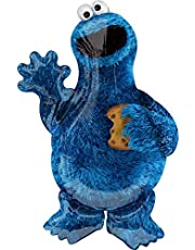 """Mayflower Products 35"""" Anagram Cookie Monster Foil Balloon, Multicolor"""