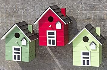 Maison d'oiseau nichoirs coloré 20cm (tilleul) Boltze