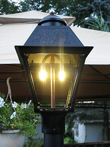 - LED Gas Light Post Lantern Lamp Head Kit