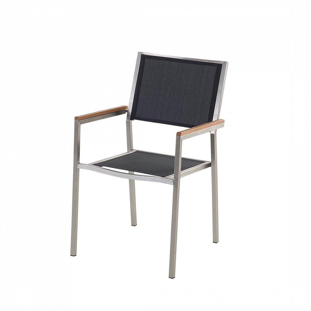 Designer Textil Gartenstuhl - Edelstahl - Sessel - Gartenmöbel ...