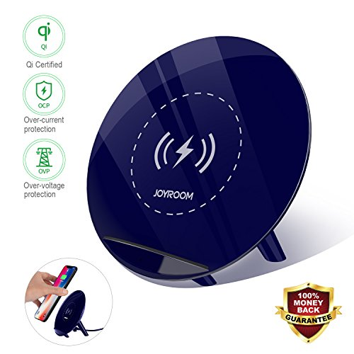 Fast Wireless Charger ,Qi Fast Wireless Charger,Pad / Stand Charger for Galaxy Note 8 S8 S8 Plus S7 Edge S7 S6 Edge Plus Note 5 and Standard Charge for iPhone X/8/8 Plus (for Qi-enabled phones)