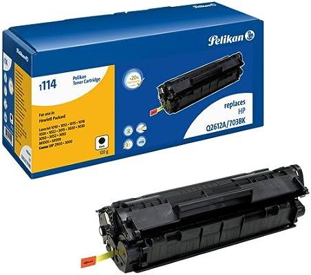 T/óner de L/áser para Impresoras HP LaserJet Pelikan 624222 Q2612 LJ Negro 2000 P/áginas