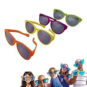 Adorox 12 pack Jumbo Novelty Sun Glasses - Parties, Raves, Joke Sunglasses Party Favors