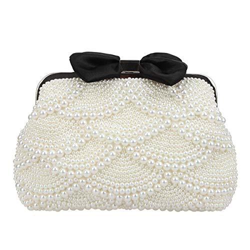 - Fawziya Pearl Clutch Evening Bag Bow Clutches For Women-Iovry
