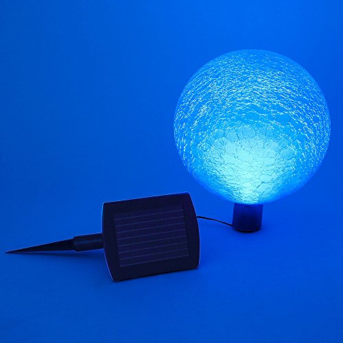 Achla Designs G10-T-F 0000 Solar Powered Colored Glass Globe Light - Outdoor Decor For Garden, Pa, Teal by Achla (Image #1)