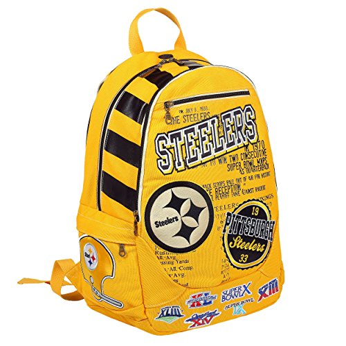 FOCO Pittsburgh Steelers Historic Art Backpack - Version 2 by FOCO