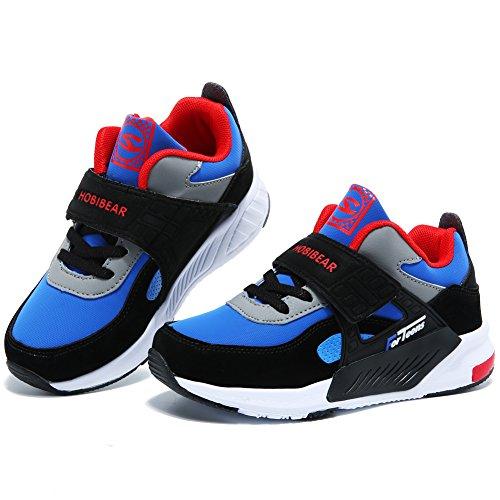 GUBARUN Running Shoes for Kids Outdoor Hiking Athletic Boys Sneakers-Blue/Black by GUBARUN (Image #2)