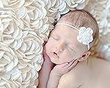 Newborn Photo Props , M&G House Cute Baby Boy Girl Handmade Knit Photography Prop 3D Rose Flower Backdrop Beanbag Blanket Rug White