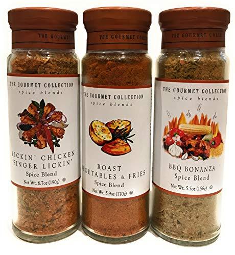 Kickin' Chicken Finger Lickin', Roast Vegetables and Fries, BBQ Bonanza Spice Blends 3 Pack Bundle