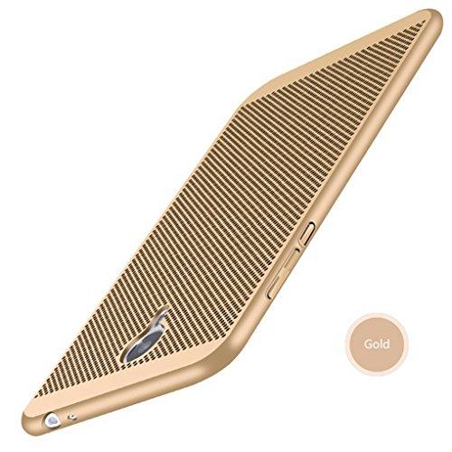 Funda Meizu M3S,Alta Calidad Ultra Slim Anti-Rasguño y Resistente Huellas Dactilares Totalmente Protectora Caso de Plástico Duro Case,Cuadrícula Disipación de calor Antideslizante Cover C