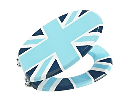 union jack toilet seat. Britannia Blue Union Jack Picture Novelty MDF Toilet Seat  Amazon Co