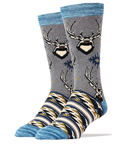 Deer Socks (Sock It Up Men Crew Cotton Socks Deer Grace)