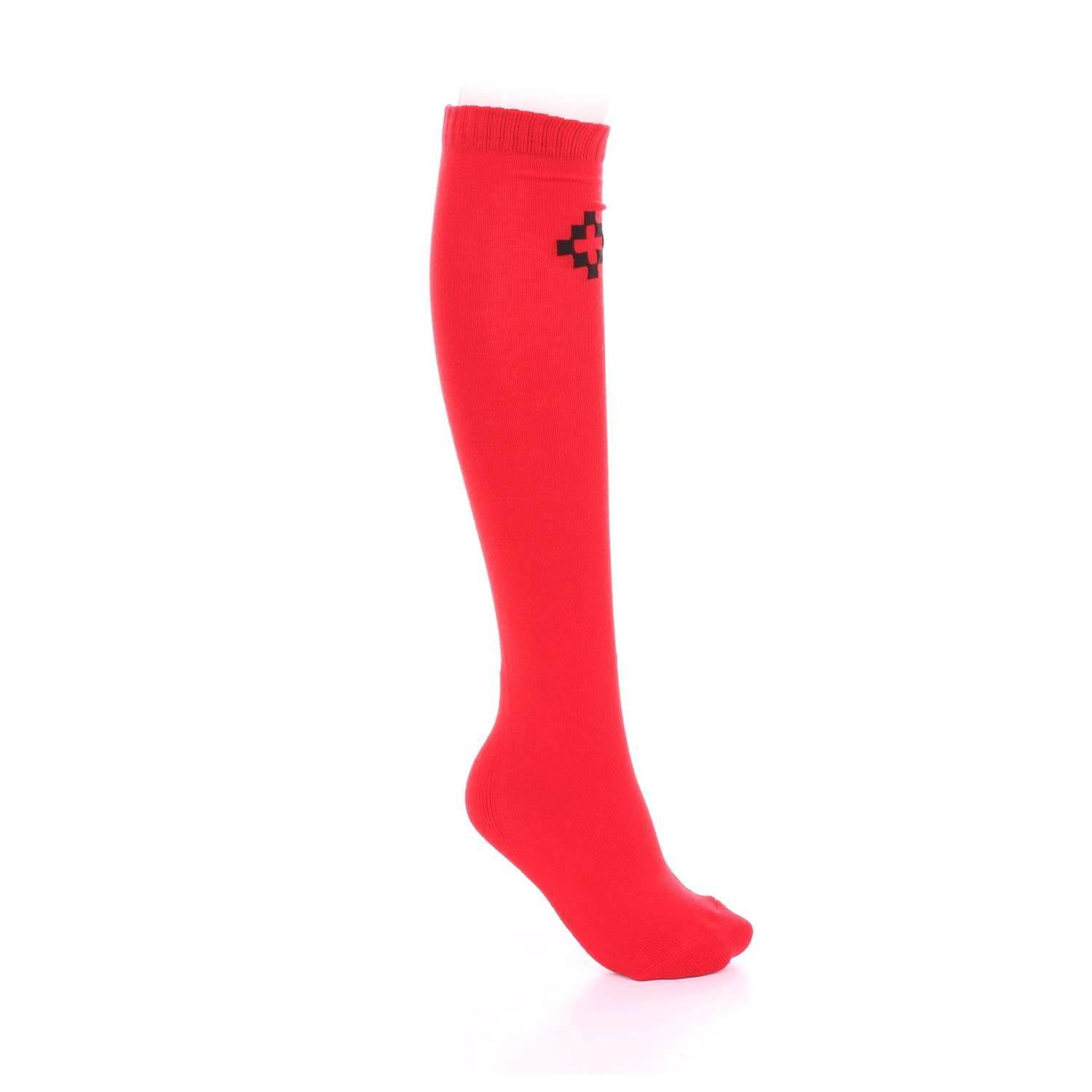 Marcelo Burlon Mens CMRA002S17096129RRED Red Cotton Socks