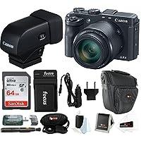 Canon PowerShot G3 X Digital Camera w/Electronic Viewfinder Bundle