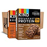 KIND Breakfast Bars Variety Pack, Dark Chocolate Protein & Peanut Butter, Gluten Free, 1.8oz, 16 Count Review
