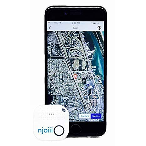 Phone Anything Finder for Your Items with Replaceable Battery Njoiii Bluetooth Key Charcoal Gray