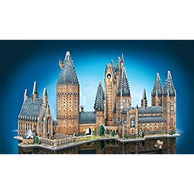 Wrebbit 3D - Harry Potter Hogwarts Castle 3D Jigsaw Puzzle, Great Hall and Astronomy Tower - Bundle of 2 - Total of 1725 Pieces: Toys & Games