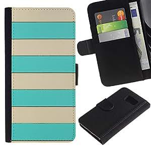All Phone Most Case / Oferta Especial Cáscara Funda de cuero Monedero Cubierta de proteccion Caso / Wallet Case for Sony Xperia Z3 Compact // Beige Lines Brown Summer Pattern