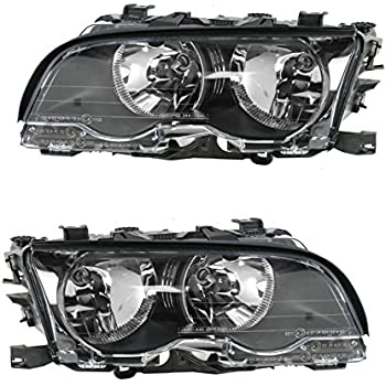 BMW 3-Series E46 4-DOOR 1999-2001 Headlight Lower Moulding Trim LEFT+RIGHT NEW