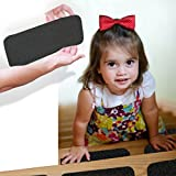 "StepStrips StepTips Black Anti Slip Tape Stair Treads For Safety Non Slip Stairs Grip 20 Pack 4"" x 12"" Pre Cut Skid Strips Traction Non Abrasive PVC FREE for Bare Feet Kids, Elders & Dogs"