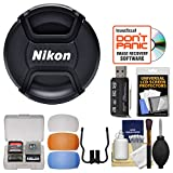 Nikon LC-67 67mm Snap-On Lens Cap with Flash Diffusers + Card Reader + Lens Cleaning Kit