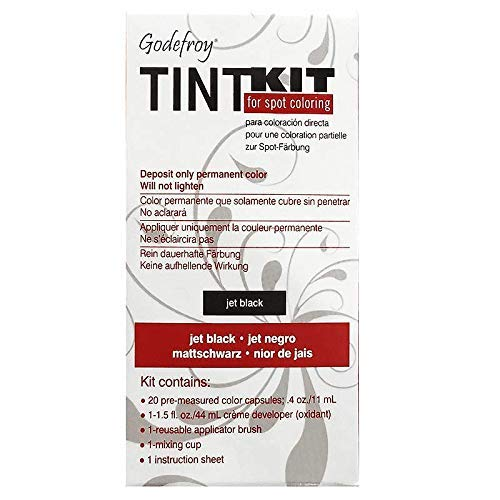 (Godefroy Professional Tint Kit For Spot Coloring | Perfect to cover gray hair| - Jet Black (2 pack))