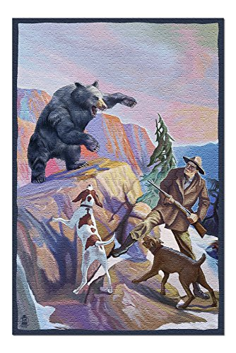 Bear Hunting Scene (20x30 Premium 1000 Piece Jigsaw Puzzle, Made in USA!)