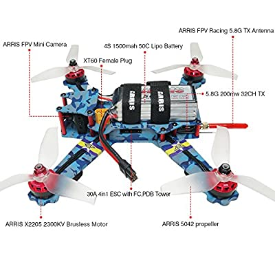 ARRIS C250 V2 250mm Quadcopter Racing Drone -HD Camera by Hobby-wing