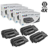 LD Compatible Toner Cartridge Replacement for HP 55X CE255X High Yield (Black, 4-Pack)