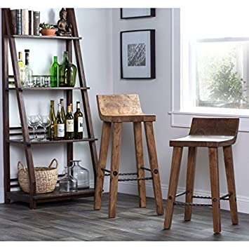 counter stools for sale edmonton on ebay height swivel with backs home tam rustic brown elm wood iron low back stool