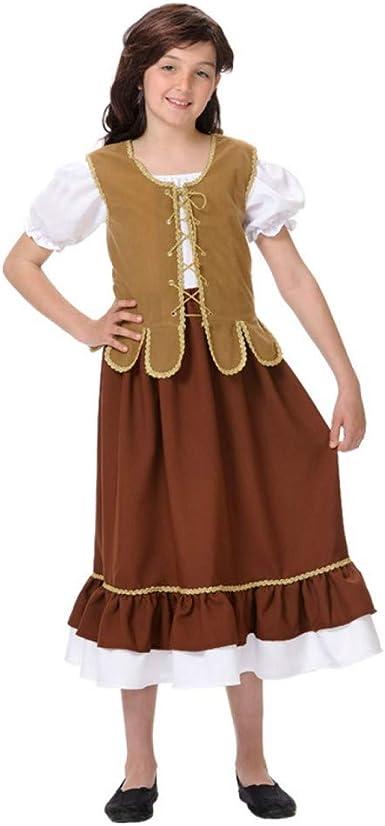 Disfraces FCR - Disfraz tabernera medieval talla 8 años: Amazon.es: Ropa y accesorios