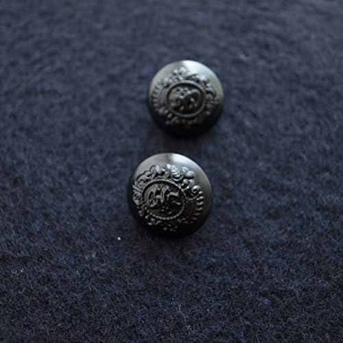 【丸型(エンブレムボタン)】メタルエンブレムボタン #T551 1穴 15mm C/#FB ブラック 2個セット