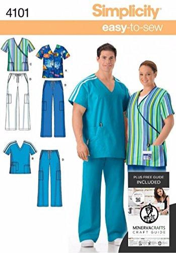 Simplicity 4101 - patrón de costura para patrones de costura para de hombre y patrones