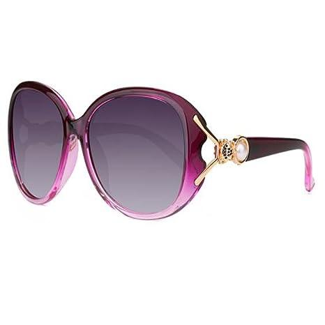 84ca96711e LQQAZY Moda Luz Polarizada Gafas De Sol Cara Redonda Gafas De Sol Marea  Rostro Largo Gafas
