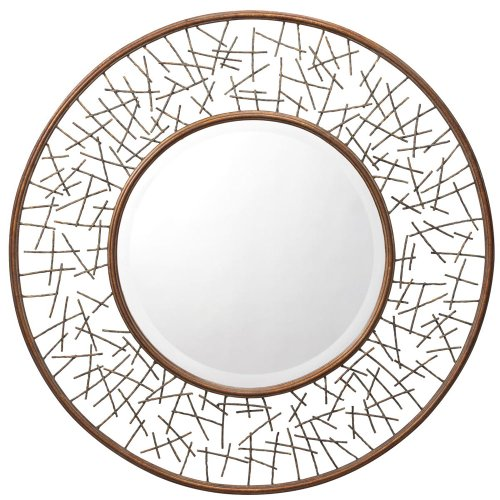 Kichler Lighting 78170 Twigs 39-Inch Mirror, Burnished Golden Bronze Finished (Kichler Bronze Mirror)