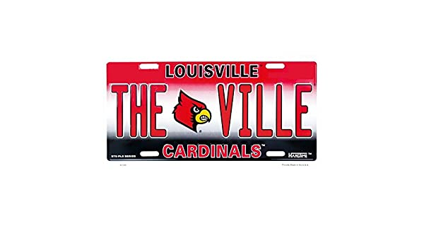 Signs 4 Fun SLC2768 Louisville Cardinals Theville License Plate