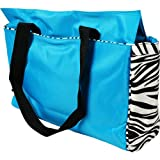 Office Tote – Turquoise/Zebra, Bags Central