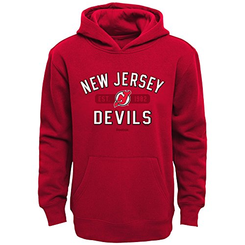 Outerstuff NHL New Jersey Devils Boys Kids Todays Highlights Fleece Hoodie, Small/(4), Red