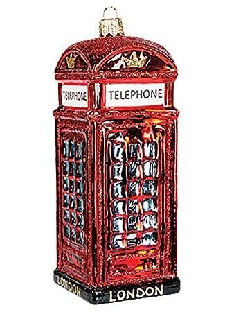 Amazon De Christbaumschmuck Weihnachtskugel Englische Telefonzelle