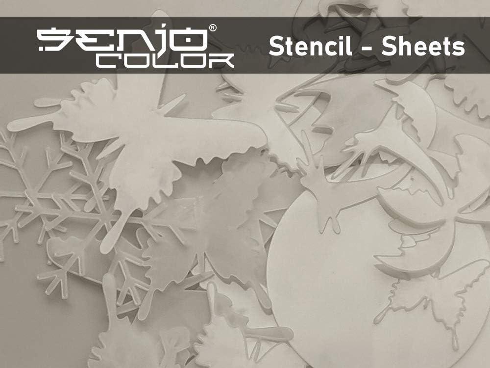 au laser Film pochoir Senjo Color 10 x DIN A4 au stencilburner et au traceur I Film pour a/érographe 0,25 mm I Film semi-transparent pour d/écoupe au cutter