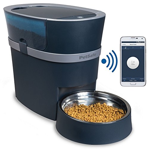 51ASagTHqGL - PetSafe Smart Feed Automatic Dog and Cat Feeder, Smartphone, 24-Cups, Wi-Fi Enabled App for iPhone and Android, Award Winning Pet Feeder