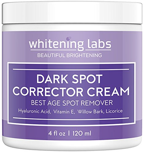 Dark Spot Corrector Best Dark Skin Age Spot Remover for Face, Hands, Body No Hydroquinone 4 oz