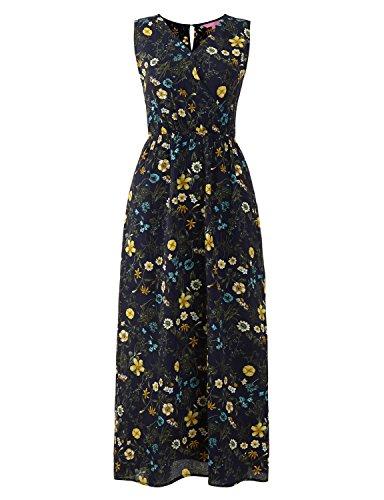 Regna X Easter Beach Boho Summer Floral Printed Maxi Dresses for Women Navy XL