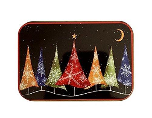 [해외]크리스마스 선물 카드 깡통 상자 크리스마스 트리 빛나는 및 해피 홀리데이 3 팩/Christmas Gift Card Tin Box Christmas Trees Glowing and Happy Holidays 3 Pac