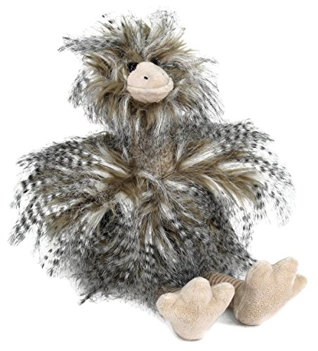 - Dear Baby Gear Limited Edition Superior Plush Toy Collection, Bad Hair Day Ostrich, Medium 17 Inches, Grey