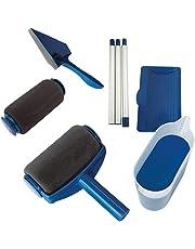 Rouleaux à peinture, Kit de rouleau à peinture multifonctionnel 6 pièces pour la maison et le bureau Kit de rouleau à peinture avec réservoir et poignée extensible