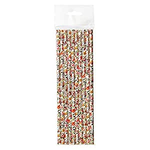 Day Multi Color Floral Straws