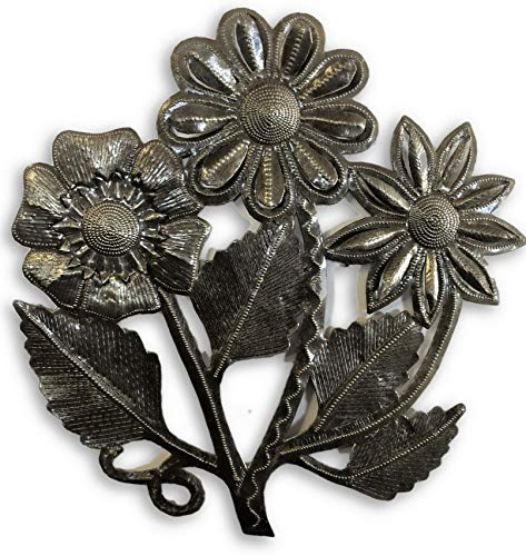 it's cactus – metal art haiti Wall Hanging Flowers, Sunflower bouquet, Indoor and outdoor home decor, Festive Decor, Fall and Autumn design 13.5″ X 14″