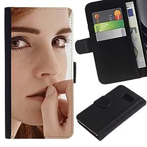 "A-type (Emma Watson"") Colorida Impresión Funda Cuero Monedero Caja Bolsa Cubierta Caja Piel Card Slots Para Sony Xperia Z1 Compact / Z1 Mini (Not Z1) D5503"