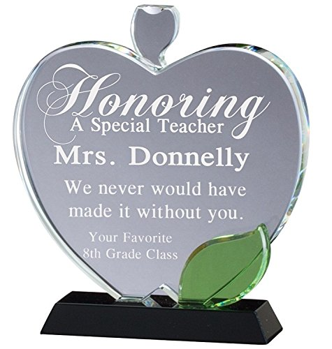 Crystal Apple Award with Free Engraving (Apple Trophy)
